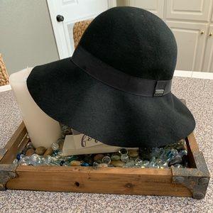 Roxy Black Wool Blend Floppy Hat
